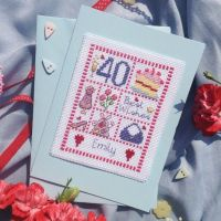 Female Birthday Sampler Card Kit - Nia Cross Stitch