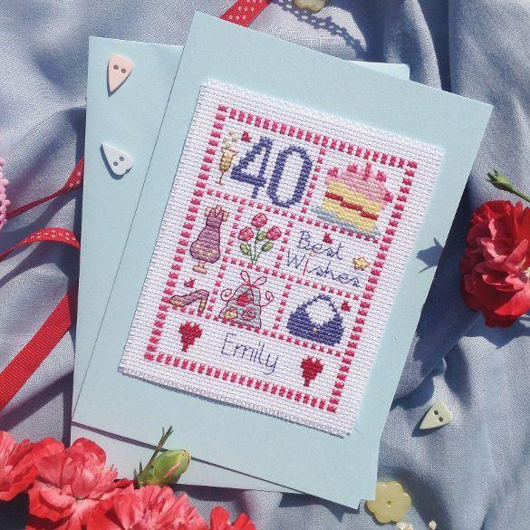 Female Birthday Card Kit - Nia Cross Stitch