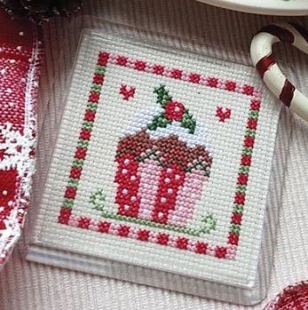 Cross Stitch Coaster - Cupcake