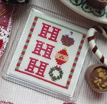 Cross Stitch Coaster - Ho Ho Ho