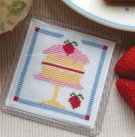 Cross Stitch Coaster - Cake