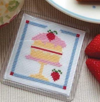 Cross Stitch Coaster - Cake