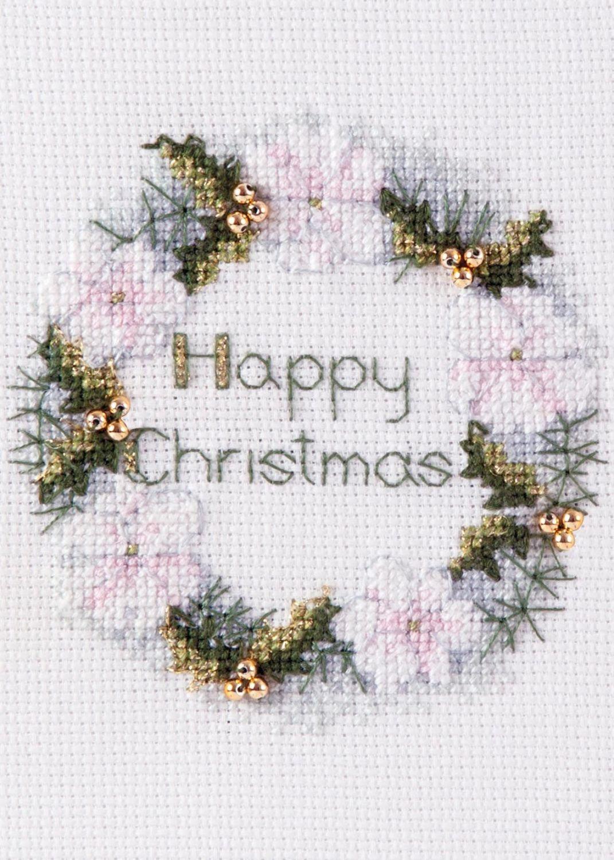 Golden Wreath - Christmas Card