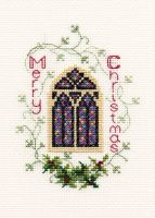 Stained Glass Window - Christmas Card