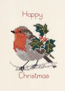 Holly and Robin - Christmas Card
