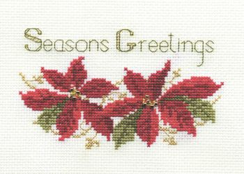 Poinsettias - Christmas Card
