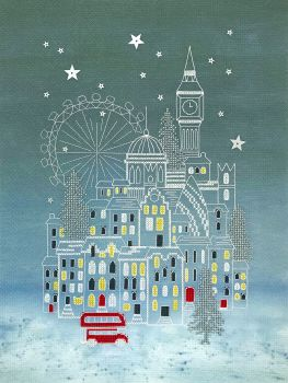 Snowy London Cross Stitch