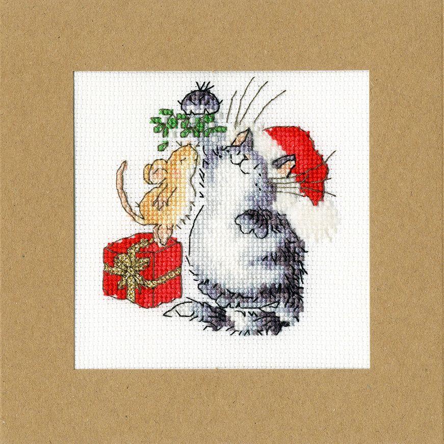 Under the Mistletoe Christmas Card