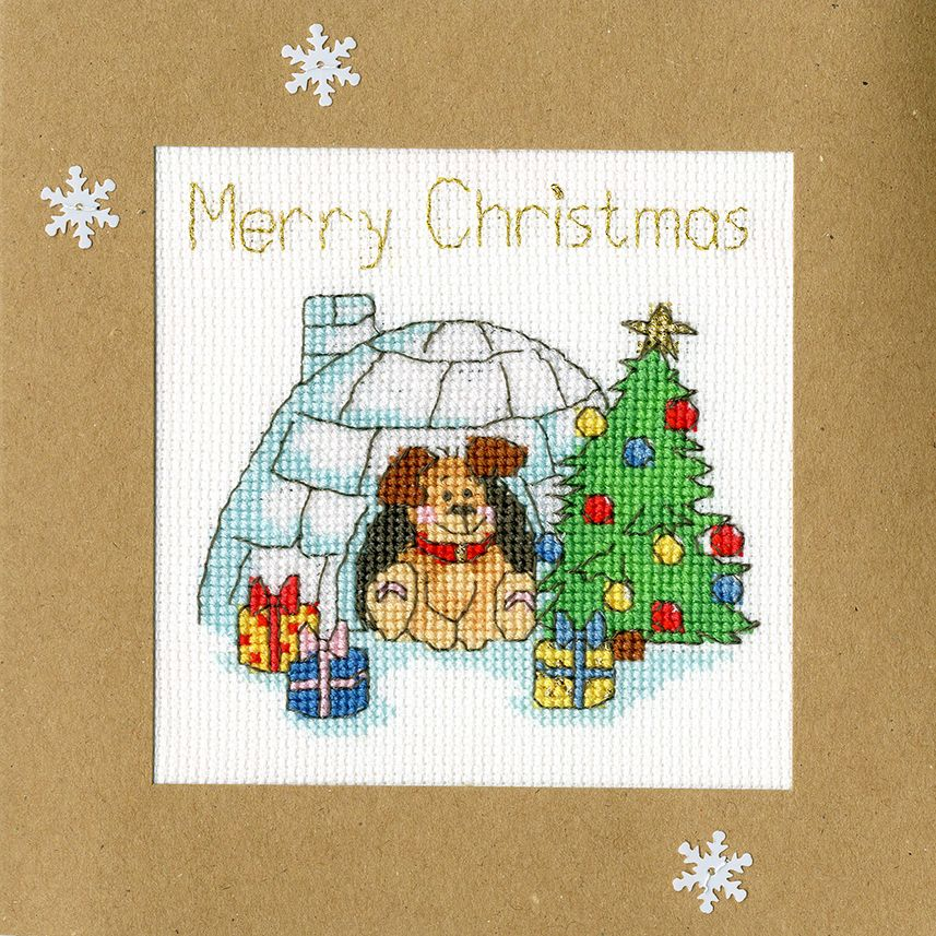 Winter Woof Christmas Card