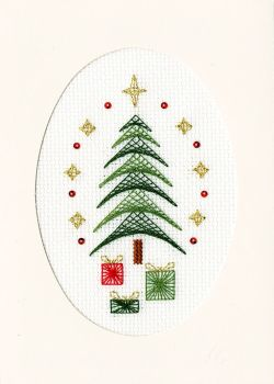 All Wrapped Up Cross Stitch Card