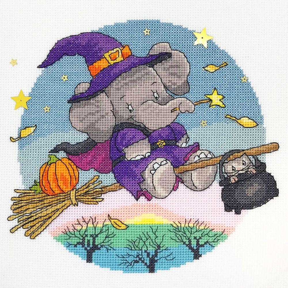 Hallow Elly - Elephant Cross Stitch