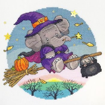 Hallow Elly - Elephant Cross Stitch