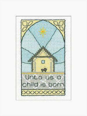 A Child is Born Christmas Card