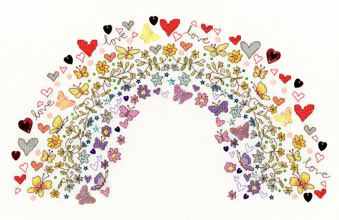 Lovely Rainbow Cross Stitch - Bothy Threads
