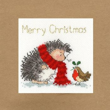 Christmas Wishes Hedgehog Christmas Card
