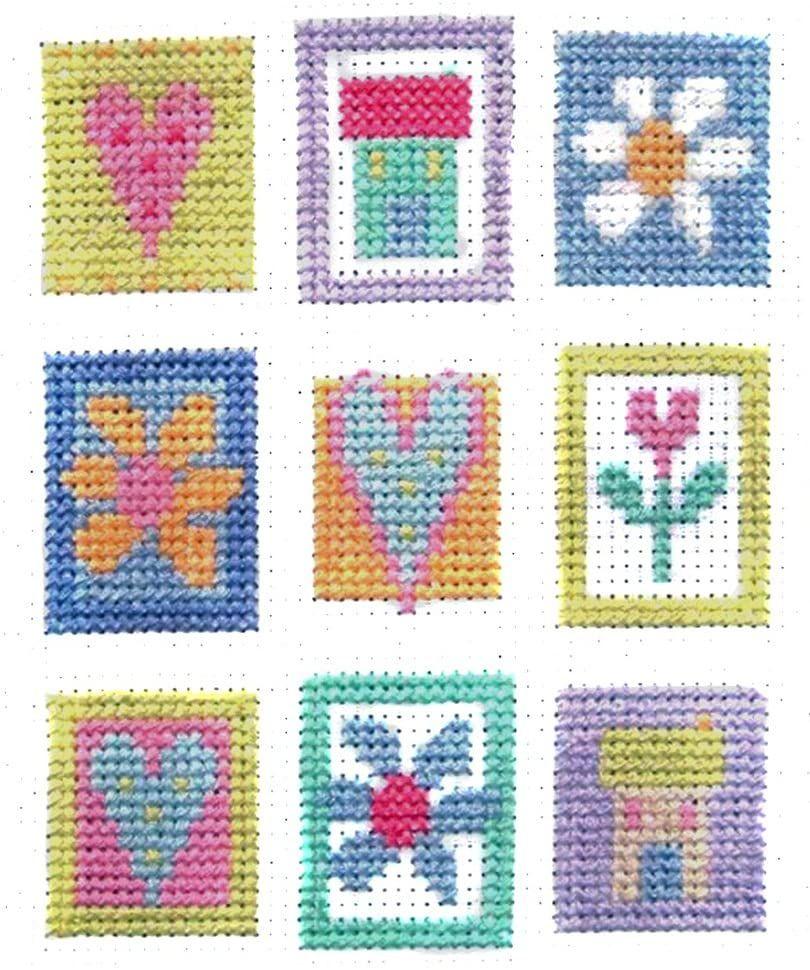 Patchwork Squares Contemporary Cross Stitch