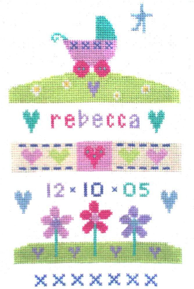 Birth Baby Girl Sampler Cross Stitch