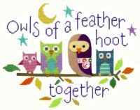 Owls of a Feather -  Felt Applique