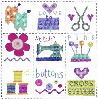 Sewing Sampler Cross Stitch