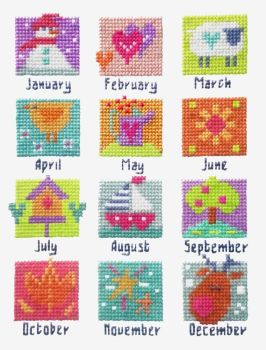 A Year in Stitches -  Months Sampler