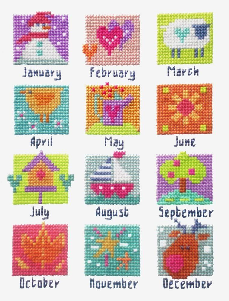 A Year in Stitches -  Months Sampler Cross Stitch