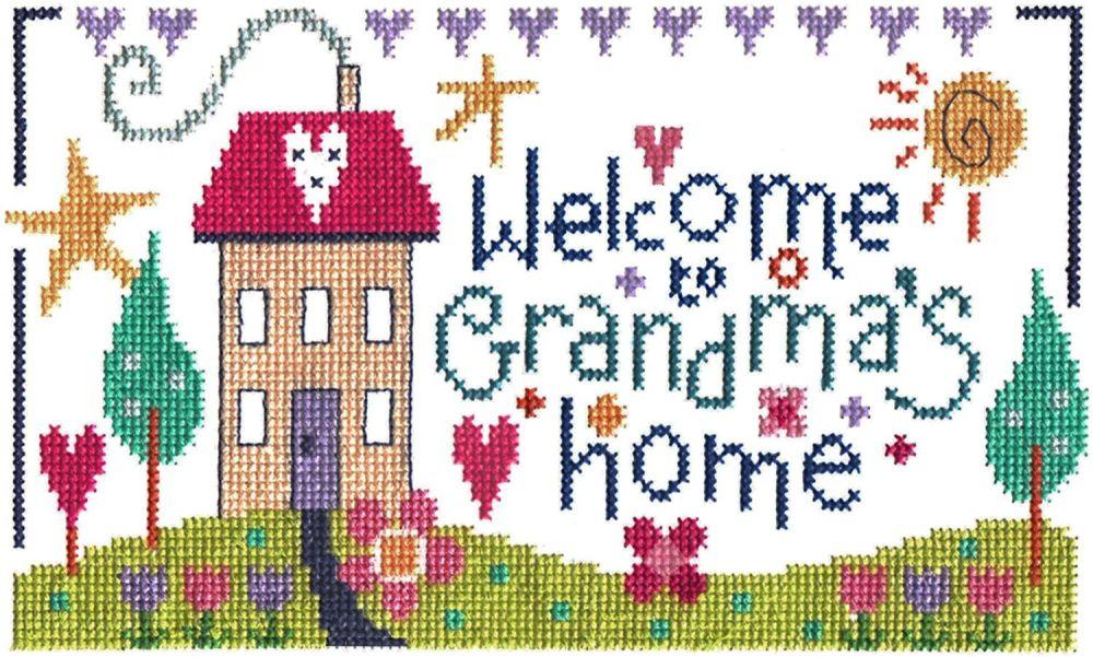 Grandma's Home Sampler Cross Stitch