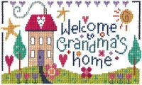Grandma's Home Sampler Cross Stitch