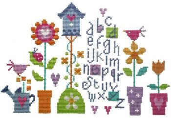 Pretty Garden -  Cross Stitch Kit