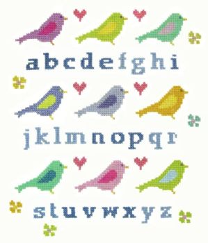 Lovebirds Sampler Cross Stitch