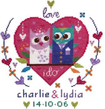 Owl Wedding Sampler Cross Stitch Kit