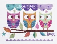 Three Owls Cross Stitch Kit