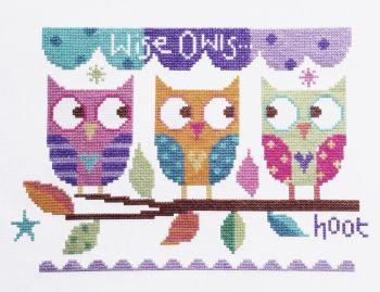 Three Owls Cross Stitch Kit