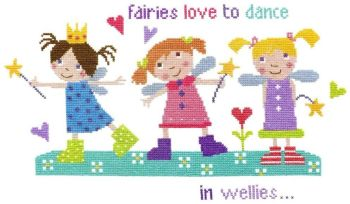 Fairies in Wellies Cross Stitch