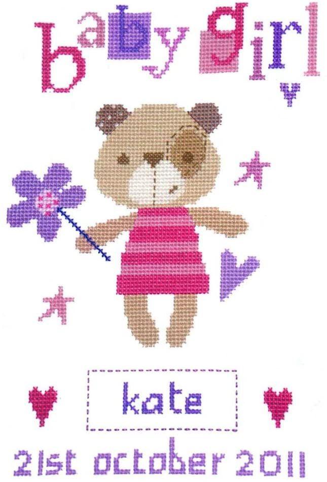 Cross Stitch Birth Sampler - Madison Girl