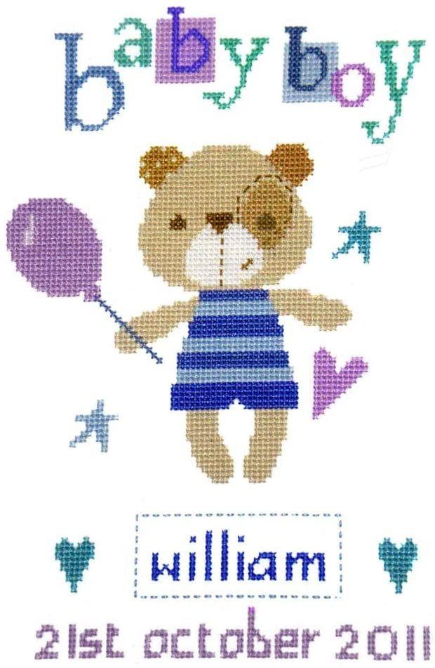 Cross Stitch Birth Sampler - Madison Boy
