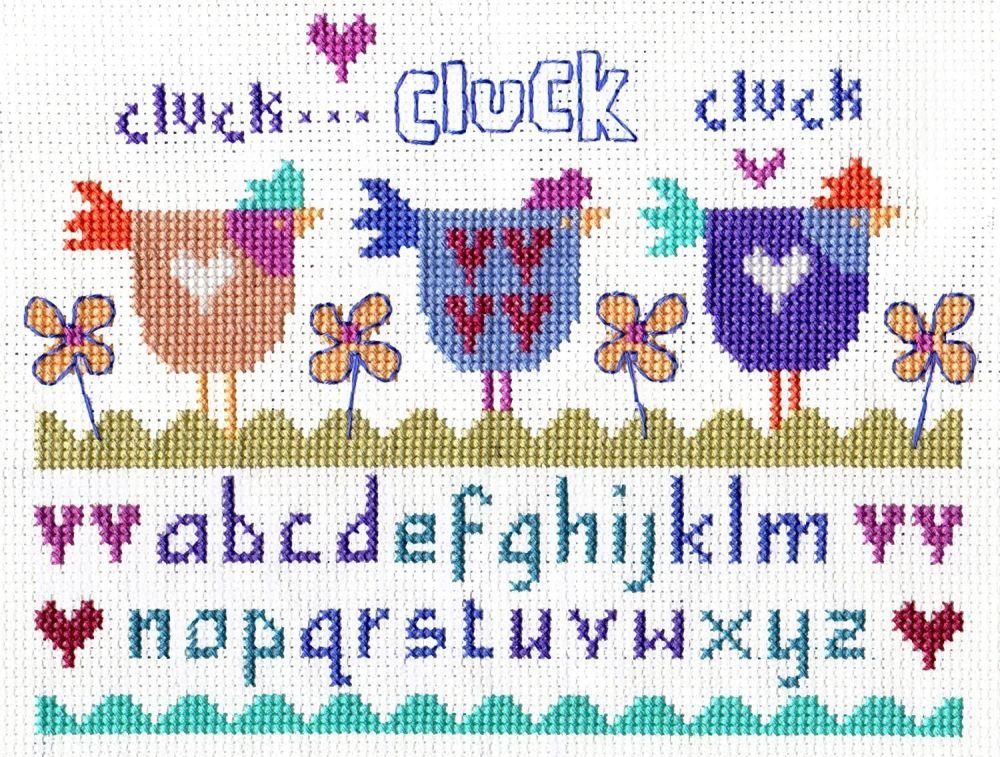Three Hens Cross Stitch Kit