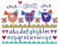 Three Hens Cross Stitch Kit