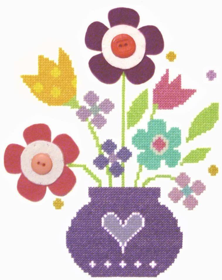 Cross Stitch Bouquet - Includes Felt Applique