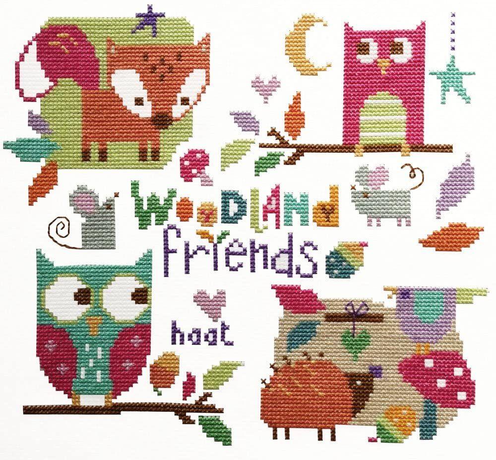 Woodland Friends Cross Stitch Kit