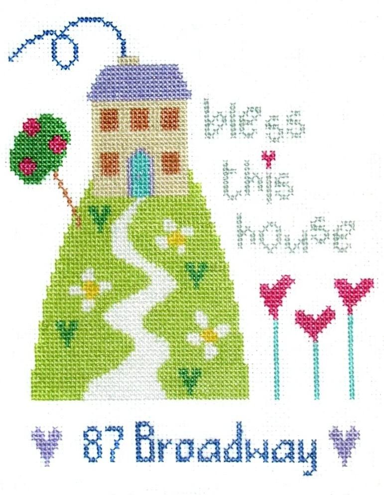 New Home - Address Sampler Cross Stitch