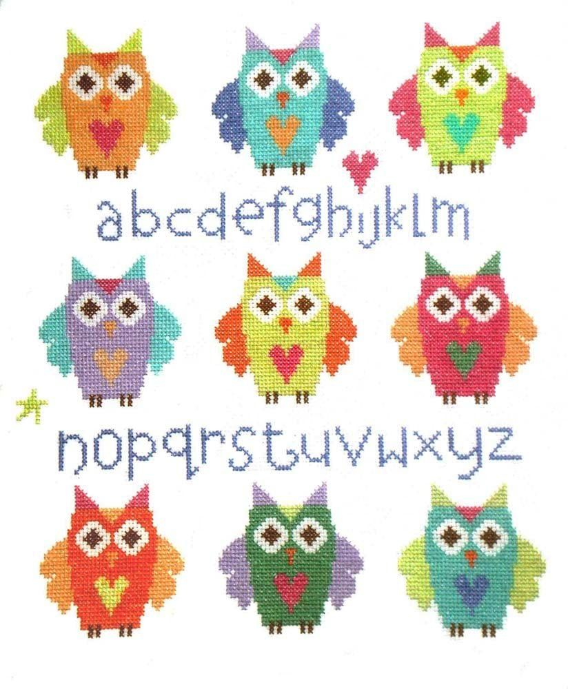 Owl Sampler Cross Stitch - The Stitching Shed