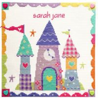 Enchanted Castle Girl Sampler