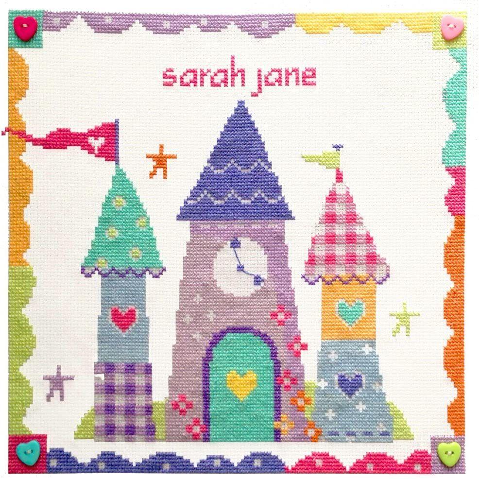 Enchanted Castle Girl Sampler Cross Stitch