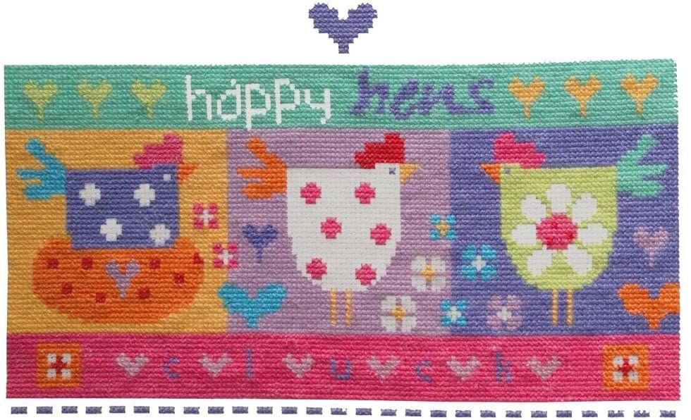 Happy Hens Cross Stitch Kit