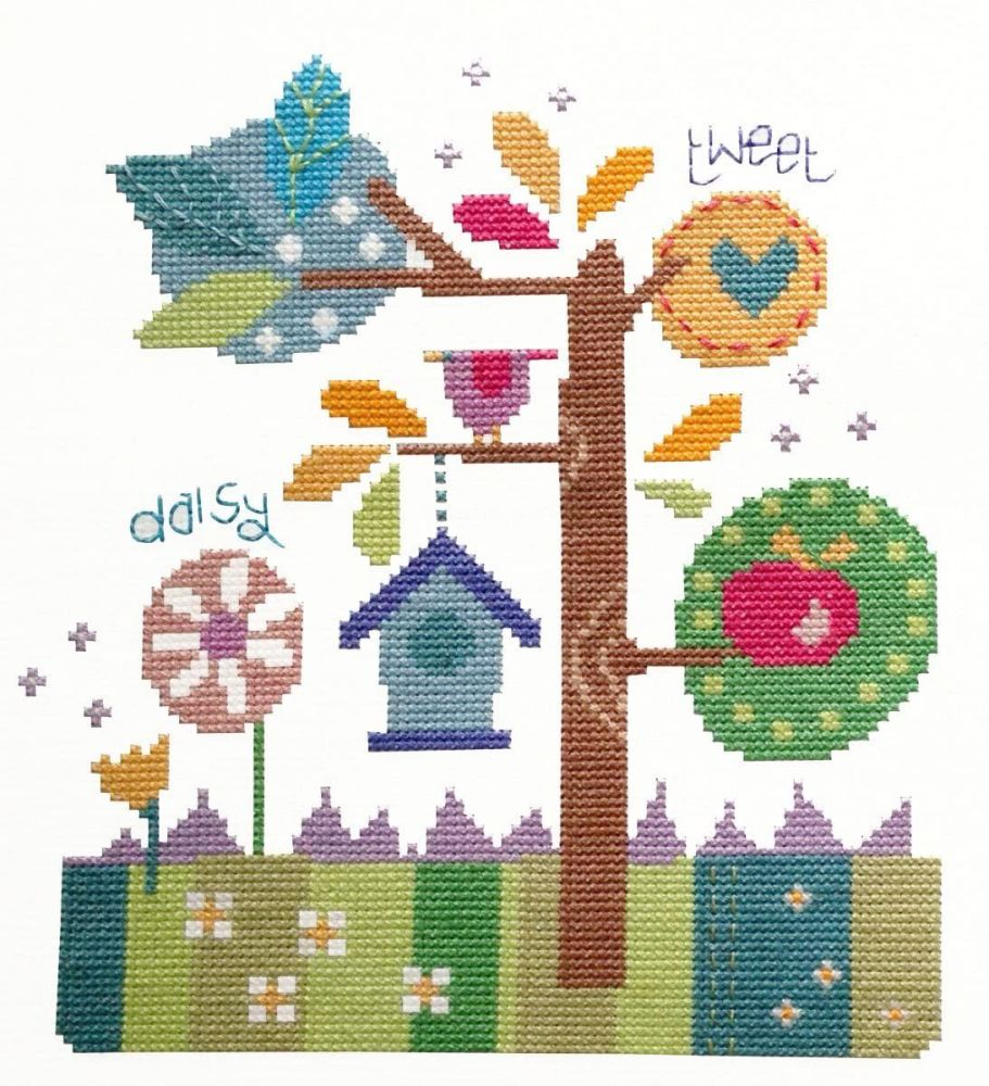 Modern In the Garden Cross Stitch Kit