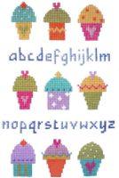 Cupcake Sampler Cross Stitch