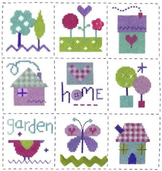 Gingham Sampler Cross Stitch