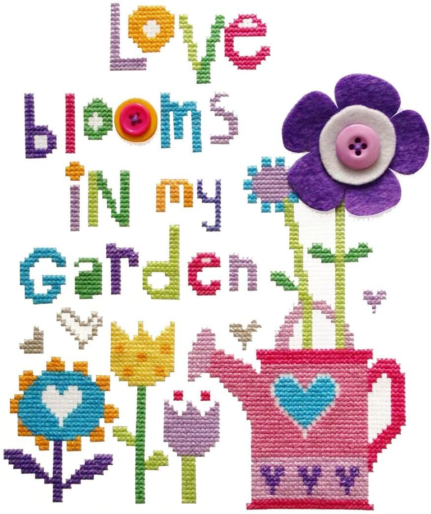 Modern Love Blooms Cross Stitch Kit
