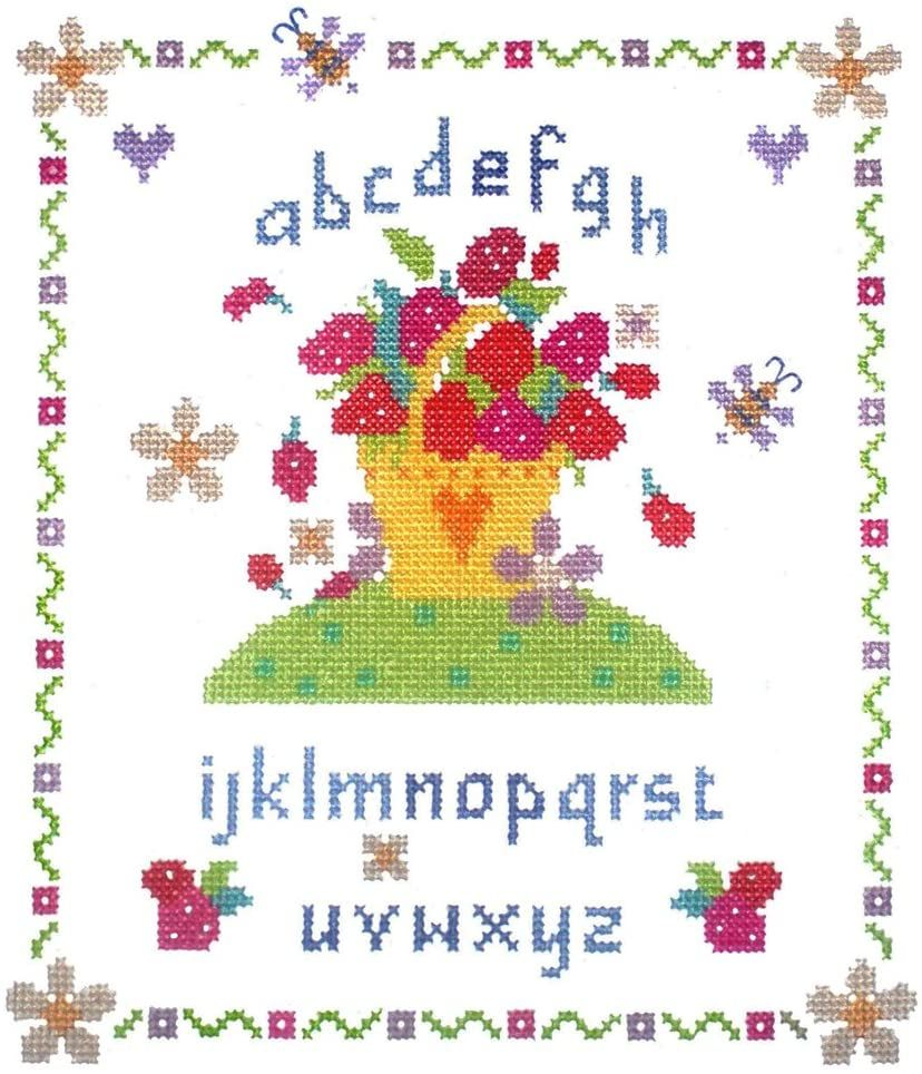 Cross Stitch Strawberry Fayre Sampler