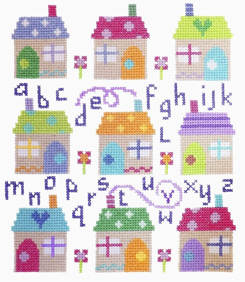 Village Alphabet  ABC Sampler Cross Stitch